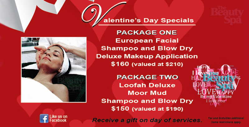 The Beauty Spa of Englewood, NJ Valentine's Day Special Offers